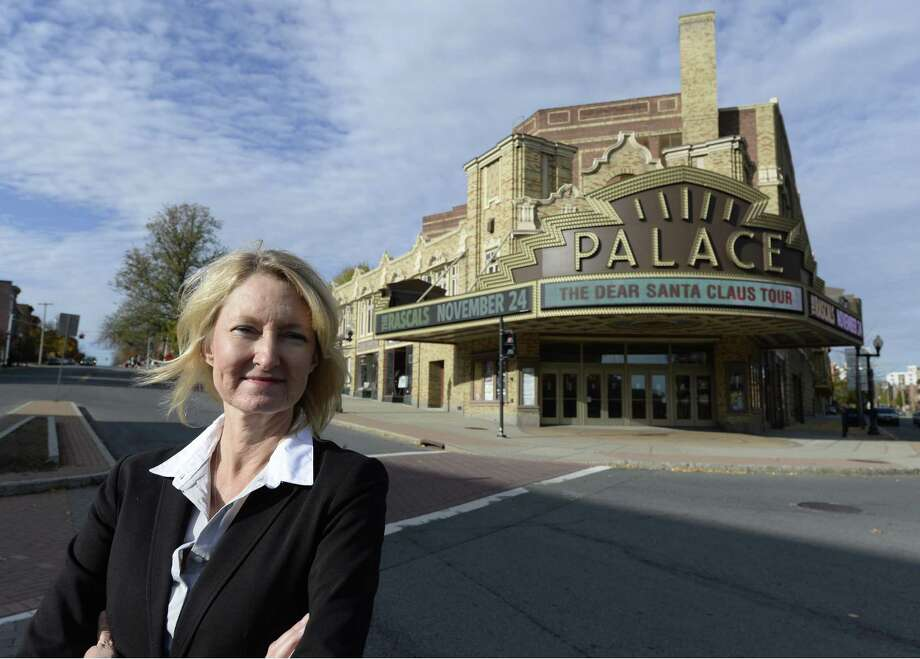 Holly Brown stands in front of the Palace Theatre Nov. 5, 2013 in Albany, N.Y.  (Skip Dickstein / Times Union) Photo: Skip Dickstein / 00024523A