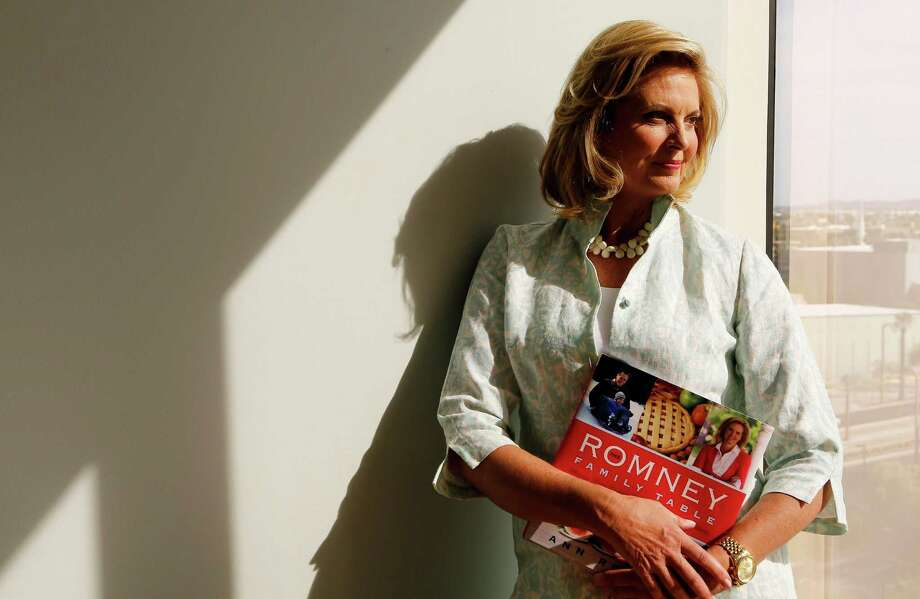 "Ann Romney has included some of her family's favorite recipes in ""The Romney Family Table: Sharing Home-Cooked Recipes and Favorite Traditions."" Photo: Ross D. Franklin, STF / AP"