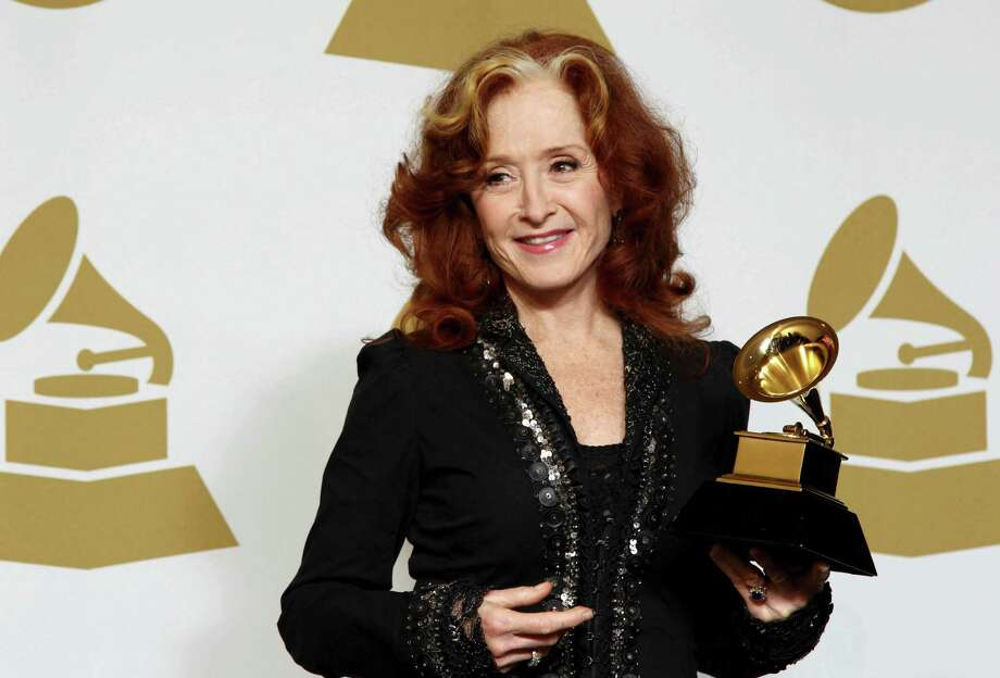 "Bonnie Raitt poses backstage with the award for best americana album for ""Slipstream"" at the 55th annual Grammy Awards on Sunday, Feb. 10, 2013, in Los Angeles. (Photo by Matt Sayles/Invision/AP) Photo: Matt Sayles / Invision"