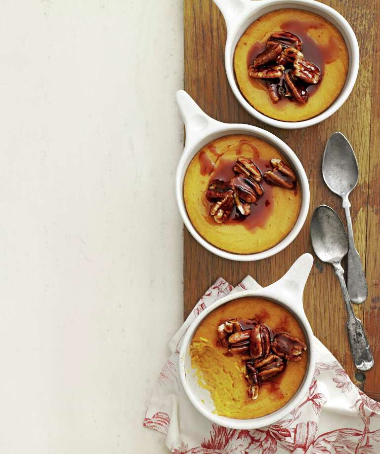 Sweet-Potato Spoon Bread with Caramel-Pecan Topping From Country Living Photo: Andrew Purcell