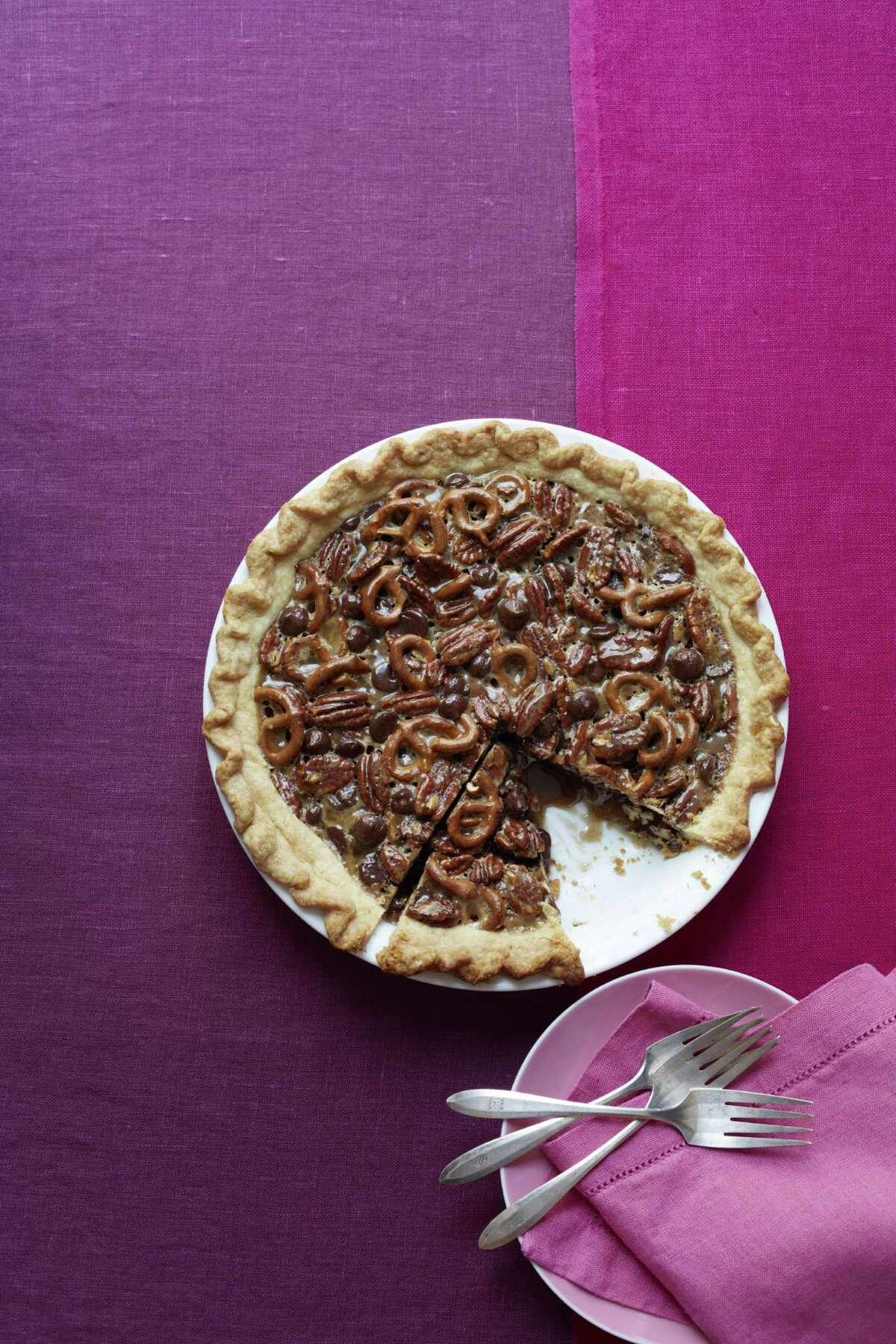 Chocolate Pretzel Pecan Pie From Woman s Day