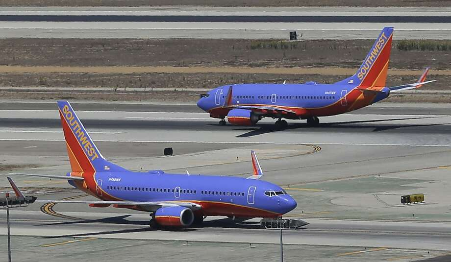 Southwest Airlines is hoping to get more slots at Washington's Reagan National Airport. Photo: Reed Saxon, Associated Press