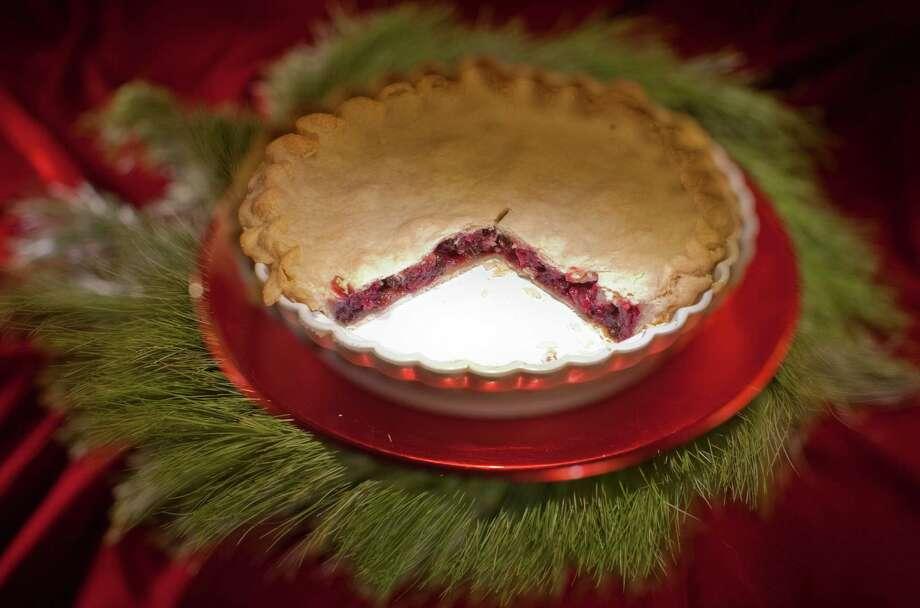 Cranberry pie, photographed, Thursday, Dec. 8, 2011, in the Chronicle studio in Houston. ( Nick de la Torre / Houston Chronicle ) Photo: Nick De La Torre, Staff / © 2011  Houston Chronicle