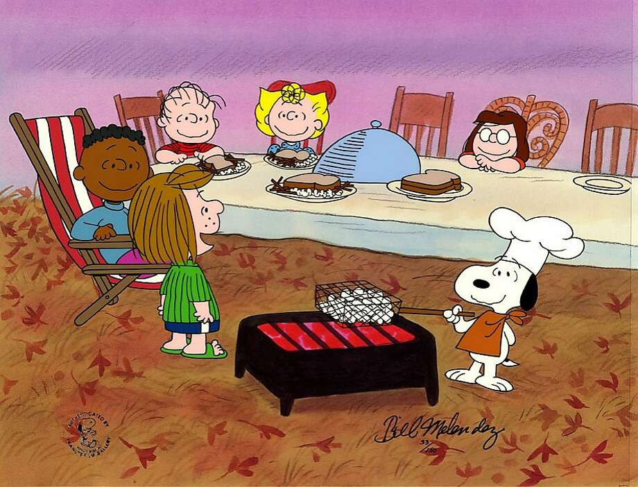 "No Thanksgiving would be complete without ""A Charlie Brown Thanksgiving.""It airs at 8 PM PST on ABC. Photo: Peanuts   1973 Peanuts Worldwide"