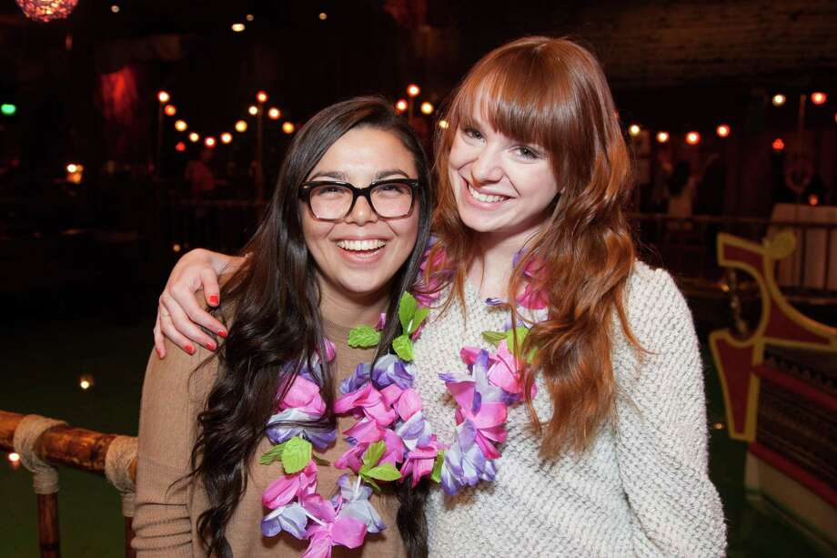 Wendy Steiner and Jessica Saia at the Tonga Room & Hurricane Bar VIP Tiki Celebration, which commemorated the restaurant's updated dinner and cocktail menus. Photo: Drew Altizer Photography