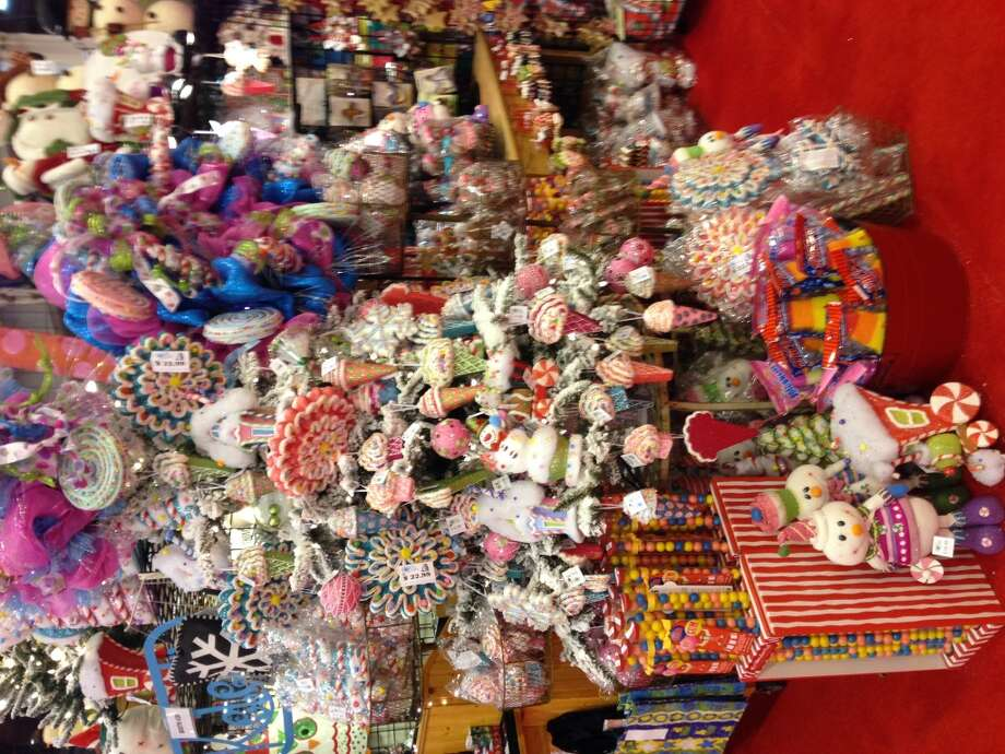Candyland inspired ornaments at Thomas E. Kilgore & Associates Photo: Lindsey Love