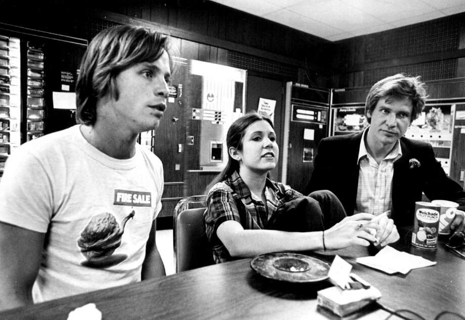 JUN 15 1977, MAY 30 1978, JUN 4 1978; 'Star Wars' has Given three Performers that 'All-Important Break'; Featured in the popular science fantasy movie are, from left, Mark Hamill, Carrie Fisher and Harrison Ford.;  (Photo By Steve Larson/The Denver Post via Getty Images) Photo: Denver Post Via Getty Images