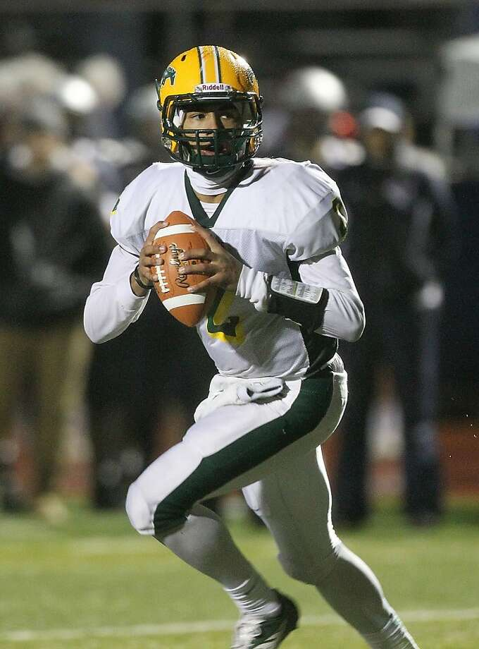Quarterback Manny Wilkins, who is committed to Arizona State, has guided San Marin-Novato to an 8-1 record. Photo: Dennis Lee, Maxpreps
