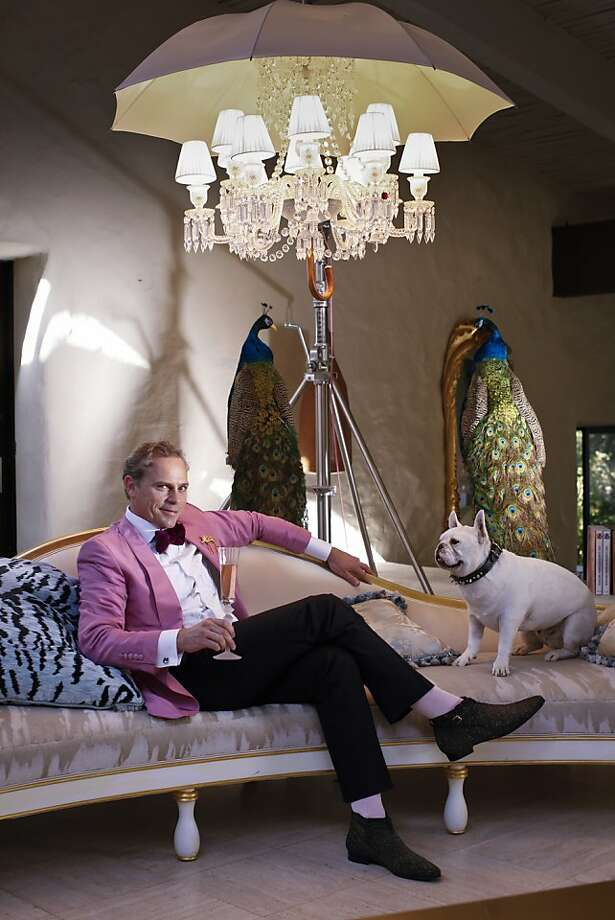 Ardently artful: Vintner Jean-Charles Boisset, profiled Nov. 10, is as passionate about the wines created at his 28 wineries as he is about his attire and the art collection at his Napa home. Photo: Russell Yip, The Chronicle