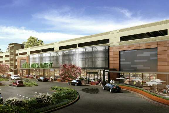 Rendering of new Whole Foods Market in The Woodlands. (Courtesy of The Woodlands Development Co.)