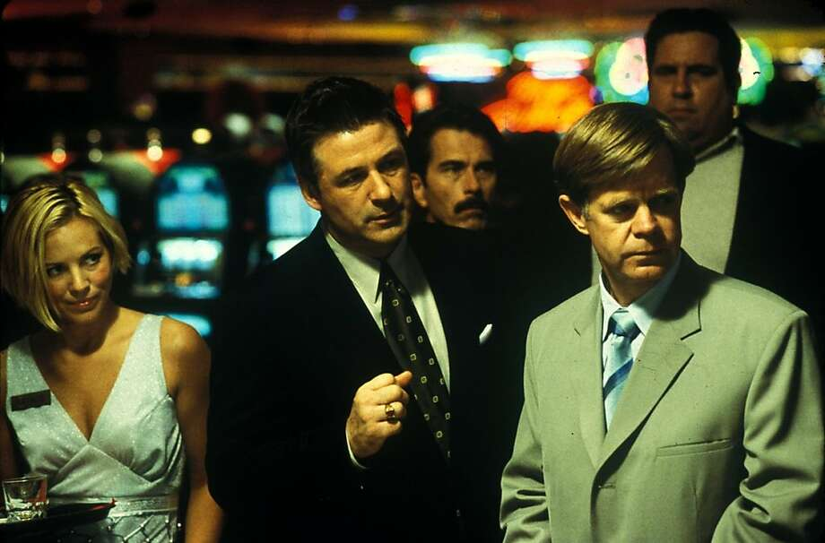 """The Cooler"":William H. Macy brings bad luck to the tables in his role as a Vegas ""cooler."" Alec Baldwin is the casino owner bad guy and Mario Bello is the cocktail waitress Macy falls for. Photo: Jim Sheldon, SFC"