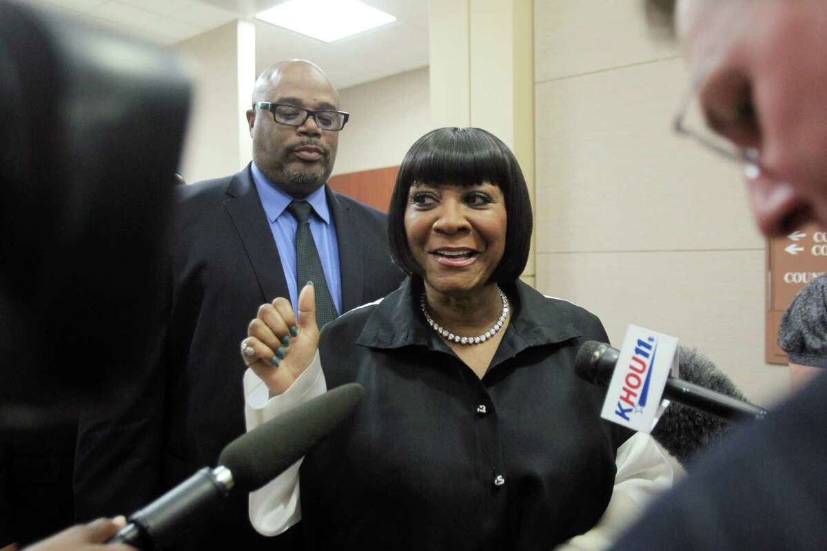 R&B singer Patti LaBelle walks leaves the courtroom after testifying at the Harris County Criminal Courthouse for the lawsuit against her bodyguard Efram Holmes on Thursday, Nov. 7, 2013, in Houston.
