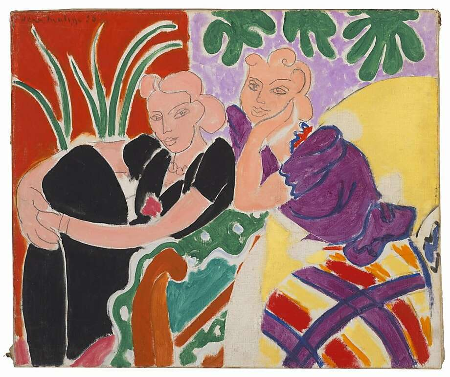 """The Conversation"" (1938) is one of 27 Henri Matisse works in the exhibition."