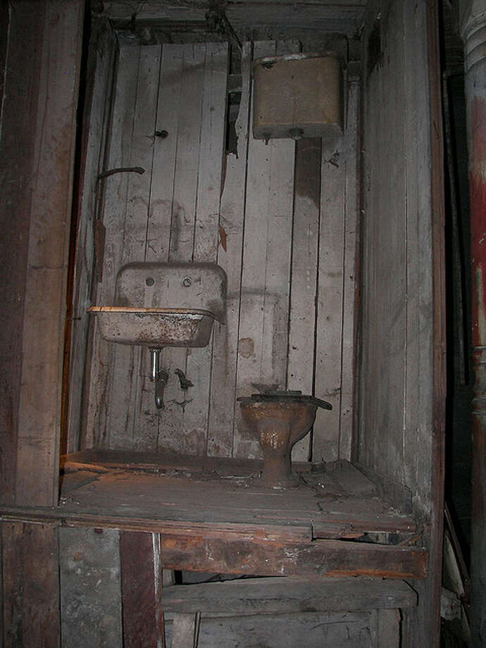 This could be Seattle's most ancient bathroom. It lives in the Seattle Underground, a warren of passageways and rooms under the city that's now part of a tourist attraction.   Before the 1889 Great Fire destroyed much of Seattle, the Underground (and toilet) were at ground level. Then the city rebuilt itself with elevated streets.   (Photo:  Kyle and Kelly Adams, Flickr).