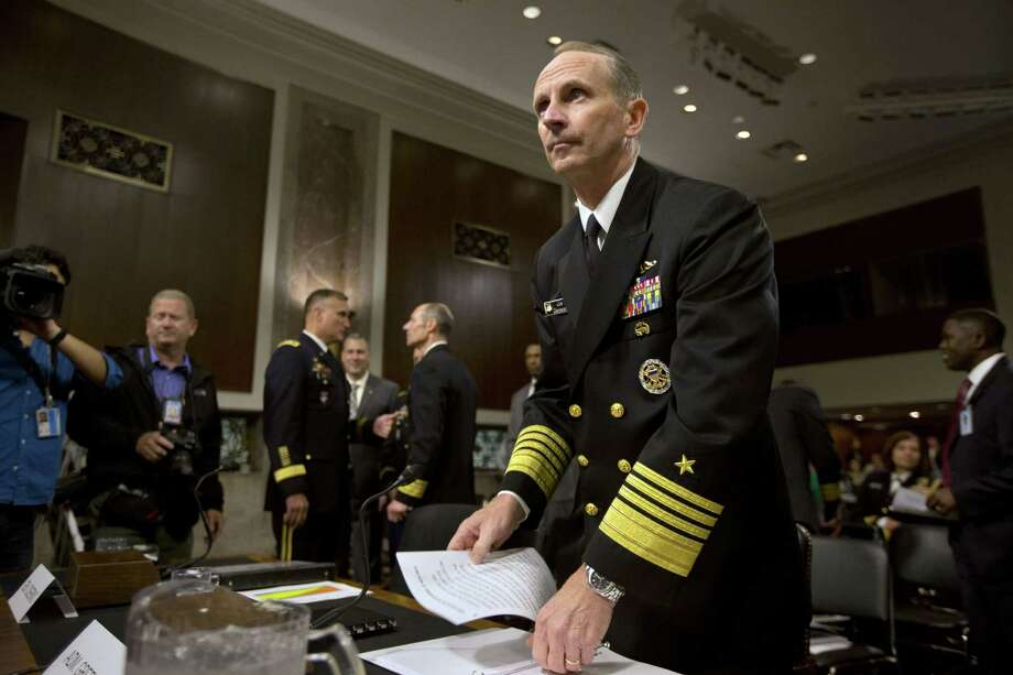 """Adm. Jonathan Greenert, chief of naval operations, bemoans the reduced number of ships the Navy will be able to deploy and says, """"We're tapped out."""" Photo: Jacquelyn Martin / Associated Press"""
