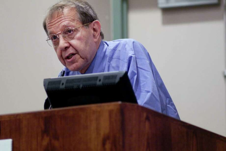 Author Jonathan Kozol addresses those gathered at a conference put on by the Schuyler Center for Analysis and Advocacy on Thursday, Nov. 7, 2013 in Albany, NY.   (Paul Buckowski / Times Union) Photo: Paul Buckowski / 00024562A