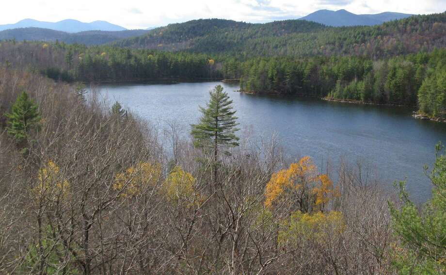 Photo by Herb Terns. Pine Pond as seen from an unnamed mountain in the Hammond Pond Wild Forest in the Adirondacks. Photo: Picasa