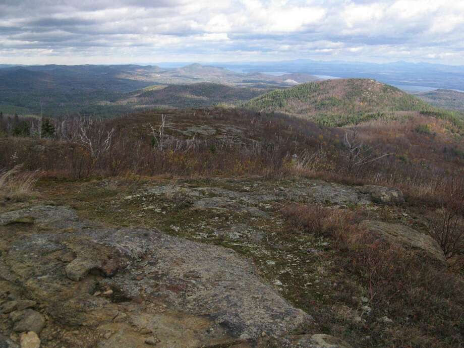Photo by Herb Terns. Looking north toward Lake Champlain and Vermont from the summit of Hail Mountain Photo: Picasa