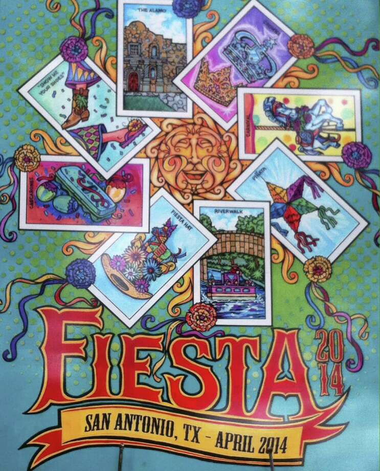 Artist Marcelino Villanueva's entry was selected as the poster for Fiesta 2014. Photo: Courtesy Image