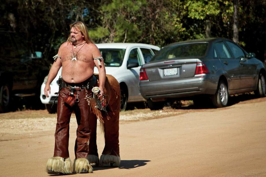 Chiron the Centaur walks into the Texas Renaissance Festival Sunday, Nov. 7, 2010, in Plantersville.   The Texas Renaissance Festival is in its 36th year and is the largest in the Nation bringing the beauty of the 16th Century to life for 8 weekends. Over 400,000 people visit the festival and see the 200 daily performances and 340 merchants.   ( Michael Paulsen / Houston Chronicle ) Photo: Michael Paulsen, File Photo / Houston Chronicle