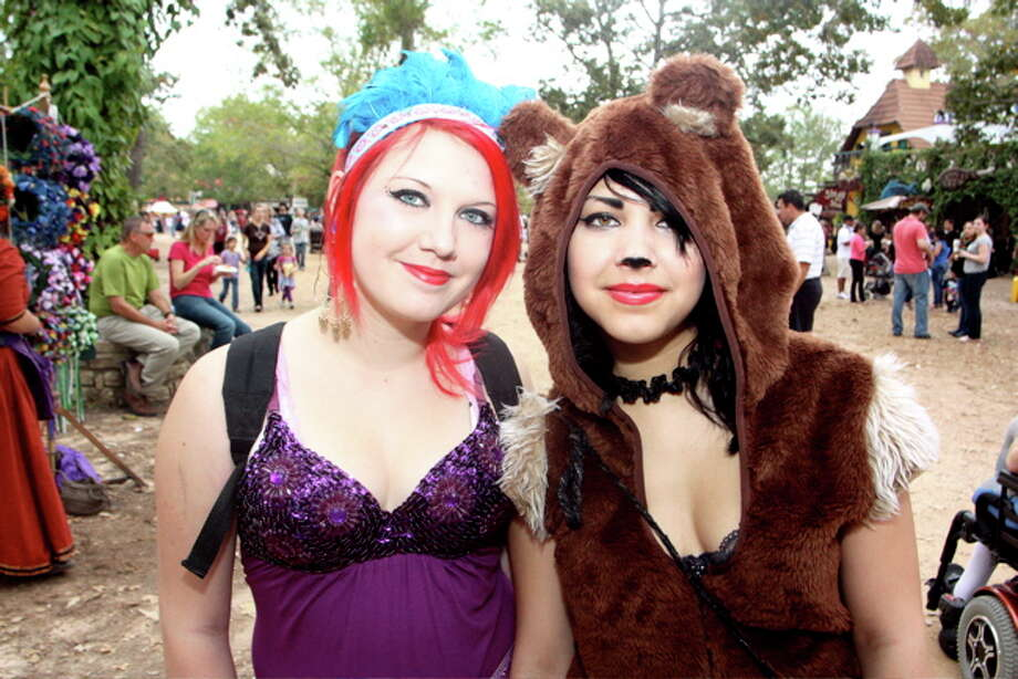 Sarah Strei, left, and Alexis Parker at the Texas Renaissance Festival, Nov. 20, 2011 Photo: Jordan Graber, File Photo