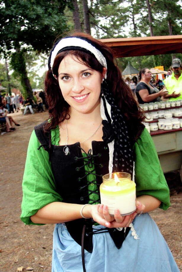 Kristy Ekiss at the Texas Renaissance Festival, Nov. 20, 2011 Photo: Jordan Graber, File Photo