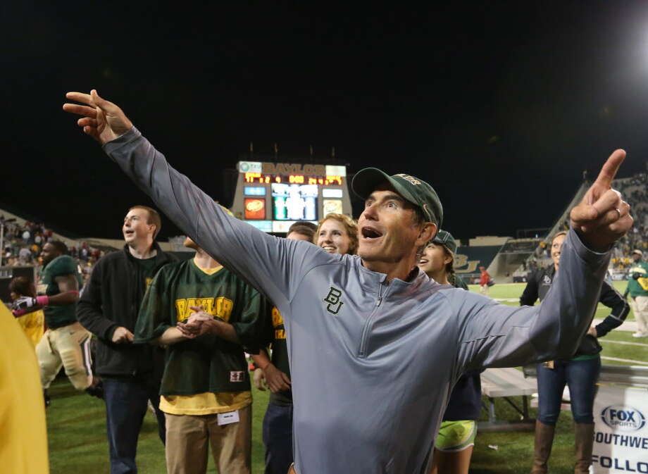All boarding with Briles on the Baylor bullet train to the Big 12 title Photo: Michael Bancale, AP / Waco Tribune Herald