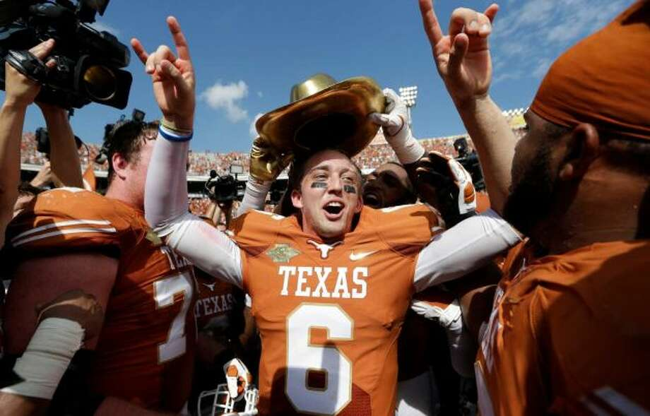 Case McCoy hopes to extend the win streak that all started against OU in the Red River Rivalry.