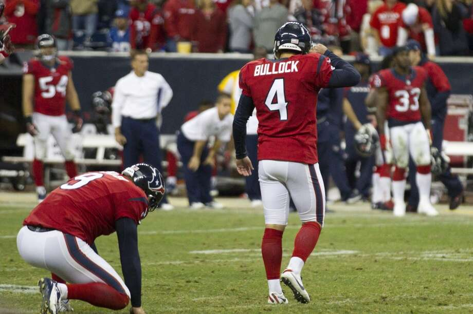 Houston (2-6) plus-2 ½ at Arizona (4-4): Texans 24-23 Photo: Brett Coomer, Houston Chronicle