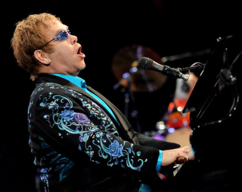 ONTARIO, CA - NOVEMBER 05:  Singer/songwriter Elton John performs onstage at The Citizens Business Bank Arena on November 5, 2010 in Ontario, California.  (Photo by Kevin Winter/Getty Images) Photo: Kevin Winter, Getty Images / 2010 Getty Images