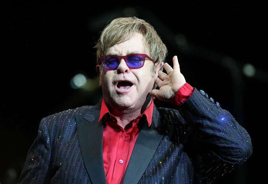 Sir Elton John will play the Webster Bank Arena on Friday, Nov. 8, 2013. Photo: Getty Images