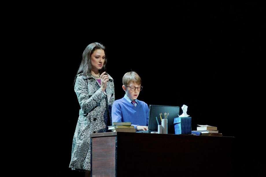 "Sandra Piques Eddy as Fiona and Andrew Pulver as the Boy soprano in Nico Muhly's ""Two Boys."" Photo: Ken Howard/Metropolitan Opera Photo: KenHoward / @2013"