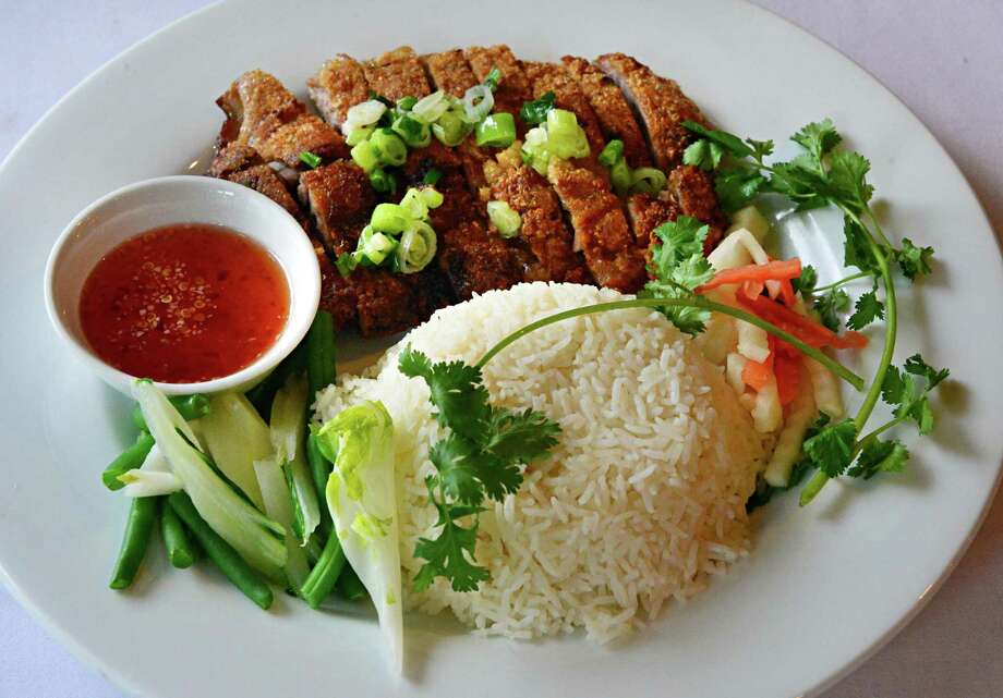 Boneless duck at  Kim's Vietnamese restaurant on Madison Ave. Thursday Oct. 31, 2013, in Albany, NY. (John Carl D'Annibale / Times Union) Photo: John Carl D'Annibale / 00024459A