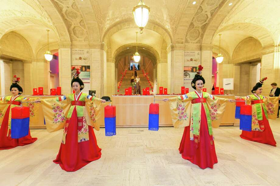 A performance during the Asian Art Museum's opening night gala for In Grand Style: Celebrations in Korean Art during the Joseon Dynasty on October 24, 2013. Photo: Claudine Gossett For Drew Altizer, Drew Altizer Photography / DREW ALTIZER PHOTOGRAPHY