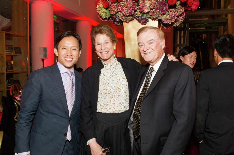 David Chiu, Wendy Paskin-Jordan and Frank Jordan at the Asian Art Museum's opening night gala for In Grand Style: Celebrations in Korean Art during the Joseon Dynasty on October 24, 2013. Photo: Claudine Gossett For Drew Altizer, Drew Altizer Photography / DREW ALTIZER PHOTOGRAPHY