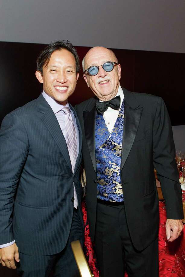 David Chiu and Wilkes Bashford at the Asian Art Museum's opening night gala for In Grand Style: Celebrations in Korean Art during the Joseon Dynasty on October 24, 2013. Photo: Claudine Gossett For Drew Altizer, Drew Altizer Photography / DREW ALTIZER PHOTOGRAPHY