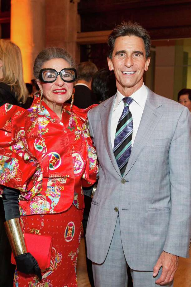 Joy Venturini Bianchi and Mark Leno at the Asian Art Museum's opening night gala for In Grand Style: Celebrations in Korean Art during the Joseon Dynasty on October 24, 2013. Photo: Claudine Gossett For Drew Altizer, Drew Altizer Photography / DREW ALTIZER PHOTOGRAPHY