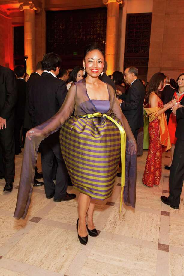 Tanya Powell at the Asian Art Museum's opening night gala for In Grand Style: Celebrations in Korean Art during the Joseon Dynasty on October 24, 2013. Photo: Claudine Gossett For Drew Altizer, Drew Altizer Photography / DREW ALTIZER PHOTOGRAPHY