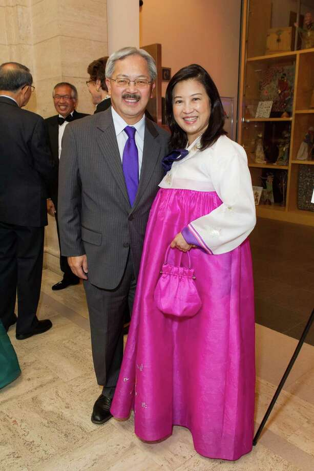 Mayor Ed Lee and Anita Lee at the Asian Art Museum's opening night gala for In Grand Style: Celebrations in Korean Art during the Joseon Dynasty on October 24, 2013. Photo: Claudine Gossett For Drew Altizer, Drew Altizer Photography / DREW ALTIZER PHOTOGRAPHY