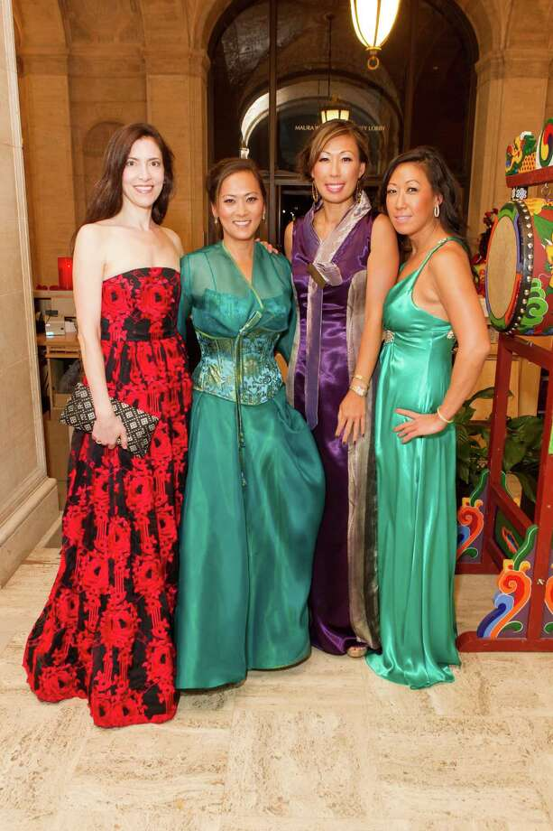 Letitia Kim, Elizabeth Fullerton,  Joy Boatwright and Christine Yi at the Asian Art Museum's opening night gala for In Grand Style: Celebrations in Korean Art during the Joseon Dynasty on October 24, 2013. Photo: Claudine Gossett For Drew Altizer, Drew Altizer Photography / DREW ALTIZER PHOTOGRAPHY