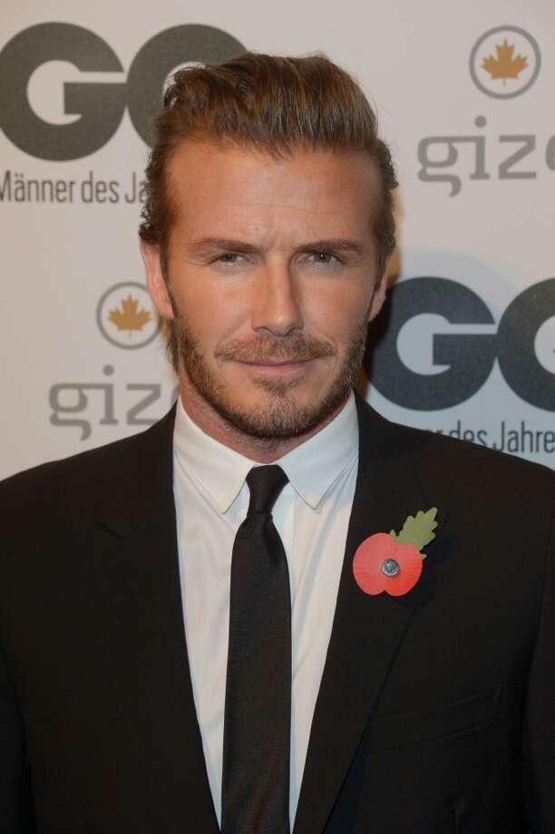 David Beckham arrives at the GQ Men of the Year Award at Komische Oper on November 7, 2013 in Berlin, Germany.  (Photo by Luca Teuchmann/Getty Images  for GQ) Photo: Luca Teuchmann