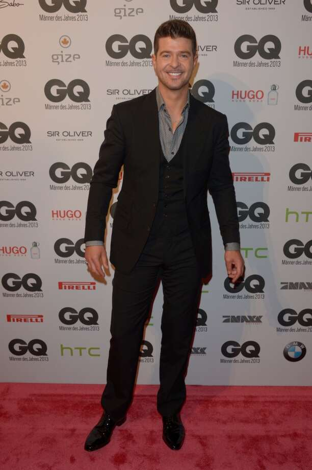 Robin Thicke arrives at the GQ Men of the Year Award at Komische Oper on November 7, 2013 in Berlin, Germany.  (Photo by Luca Teuchmann/Getty Images  for GQ) Photo: Luca Teuchmann