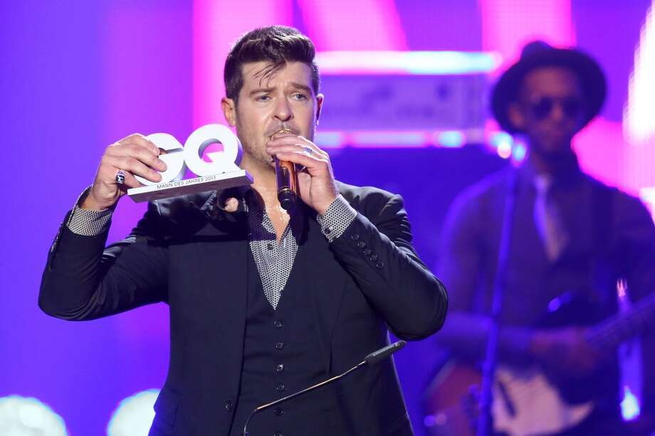 Robin Thicke performs on stage at the GQ Men Of The Year Award at Komische Oper on November 7, 2013 in Berlin, Germany.  (Photo by Sean Gallup/Getty Images  for GQ) Photo: Sean Gallup