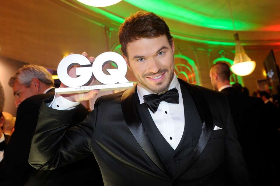 Kellan Lutz poses with his award at the after show party of the GQ Men Of The Year Award at Komische Oper on November 7, 2013 in Berlin, Germany.  (Photo by Timur Emek/Getty Images for GQ) Photo: Timur Emek, Getty Images For GQ