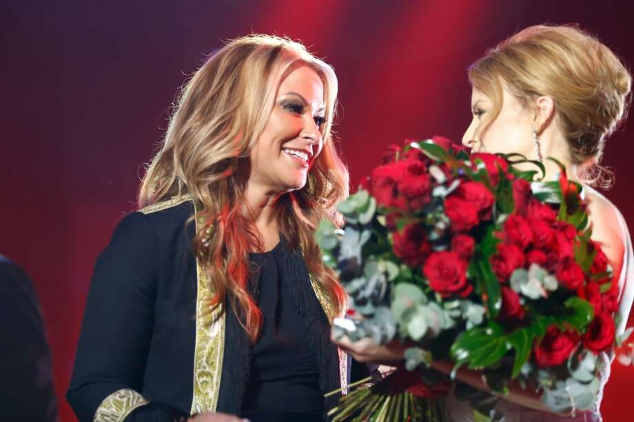 Anastacia (L) and Kylie Minogue at the end of the GQ Men Of The Year Award at Komische Oper on November 7, 2013 in Berlin, Germany.  (Photo by Andreas Rentz/Getty Images  for GQ) Photo: Andreas Rentz