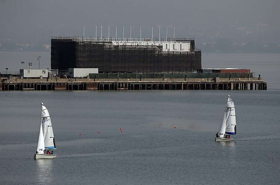 The Google barge Photo: Justin Sullivan, Getty Images