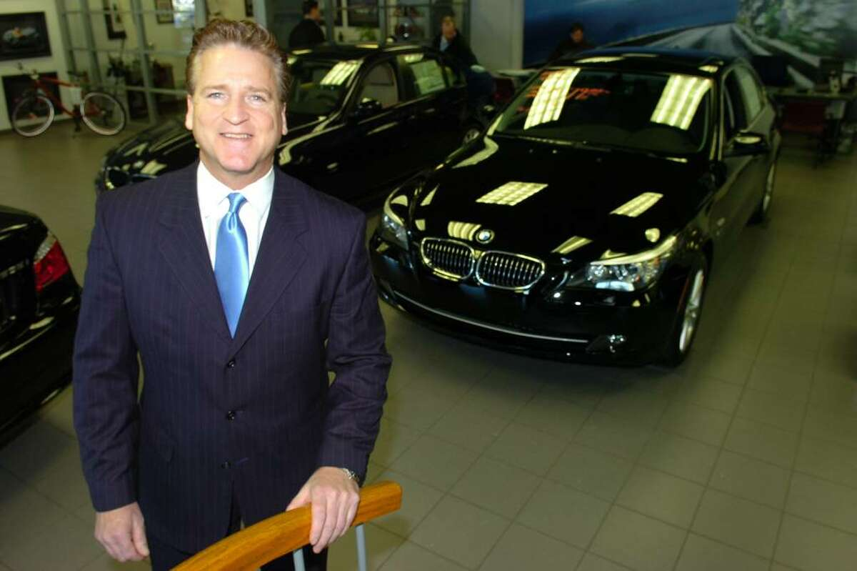Tom Coughlin, general sales manager at BMW of Bridgeport, in Bridgeport, Conn. Jan. 29th, 2010. The dealership's quirky