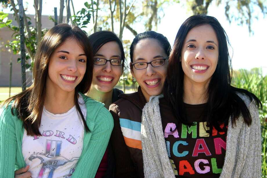 Humble quadruplets: Cynthia, Melissa, Laura and Kim Berber in 2006, when they were completing their studies at San Jacinto College.  Photo: Carla Rabalais, For The Chronicle / Freelance