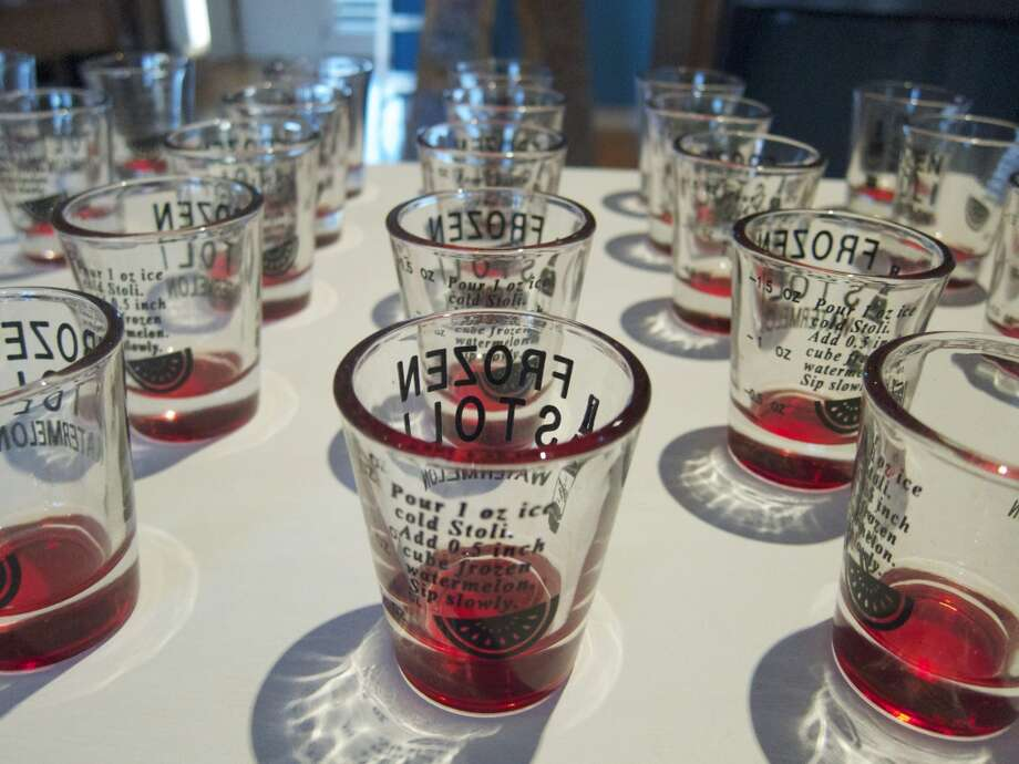Shotglasses by Emily Roz are on sale in Franklin Street Works' Pop-Up Shop through Dec. 2. The Stamford gallery is celebrating its 2nd anniversary this month. Photo: Contributed Photo