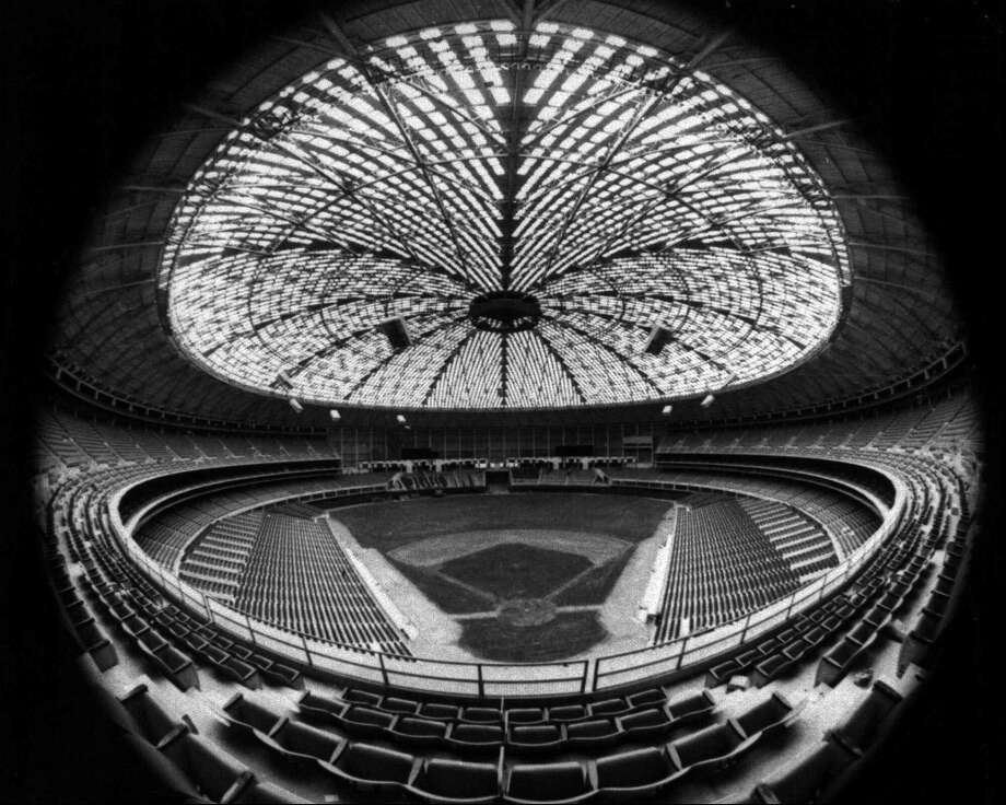 This April 1965 file photo shows how the Astrodome looked during the Houston Astros first season in the domed arena. The Astros played their first season on real grass, but the baseball field was later replaced with the iconic Astroturf. Photo: STF / AP